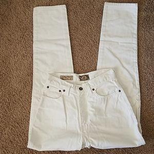 """Vtg 80's High Rise Waist 26"""" Express Jeans sz 3/4"""